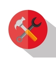 wrench construction tool device icon vector image