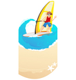 Young Windsurfer vector image