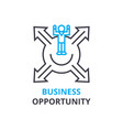 business opportunity concept outline icon vector image