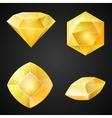 Set of yellow gemstones vector image