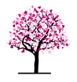 love tree with hearts vector image