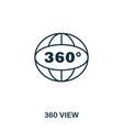 360 view icon mobile app printing web site icon vector image