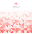 abstract gray triangle and square in red and vector image vector image