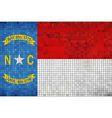 Abstract Mosaic flag of North Carolina vector image vector image