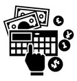 accounting calculator icon simple style vector image