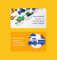 agrotechnics set business cards harvesting vector image vector image