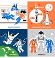 Astronauts 2x2 Design Concept vector image vector image