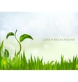 background of green grass vector image vector image