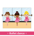 ballerinas with bar and mirror vector image vector image