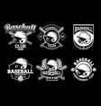 baseball badge logo emblem template collection vector image