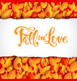 beautiful fall leaves card vector image