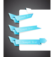 blue origami ribbons vector image