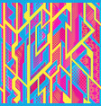 bright futuristic geometric pattern vector image