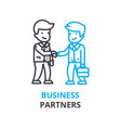 business partners concept outline icon linear vector image vector image