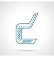 Chair flat line icon vector image vector image