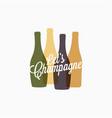 champagne bottle logo color banner icon vector image vector image