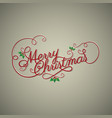 christmas banner with hand drawn decoration vector image vector image