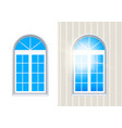 closed italian window isolated on white layered vector image