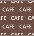coffee words background cafe text seamless pattern vector image vector image