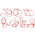 collection mousechinese zodiac sign year ra vector image vector image