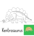 coloring page for kids with brontosaurus vector image