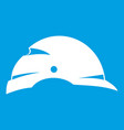 construction helmet icon white vector image vector image