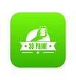 creative 3d printing icon green vector image vector image