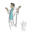 doctor gesturing with open arms vector image vector image