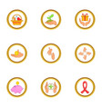 donate hand icons set cartoon style vector image vector image