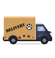flat style delivery service vector image