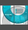 flyer template with circles and 3d shadows vector image