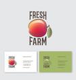 fresh farm products logo health organic product vector image vector image