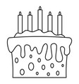gift cake icon outline style vector image vector image