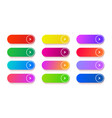 gradient empty button colored rectangle vector image