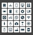 hardware icons set collection of battery chip vector image vector image