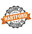 hartford round ribbon seal vector image vector image