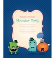 Hipster Monster Party Card vector image vector image