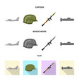 isolated object of weapon and gun logo collection vector image