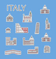 italian traveling labels set in linear style vector image vector image