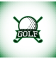 label golf tournament vector image vector image