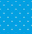 lily heraldic emblem pattern seamless blue vector image vector image
