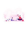 man and small boy gaming fun happy family dad vector image vector image