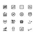 market store element black icon set vector image vector image