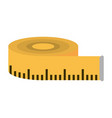 measuring tape icon image vector image vector image