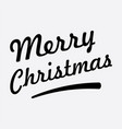 merry christmas text on white background vector image vector image