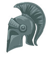 metal helmet used for battle and fights antiquity vector image