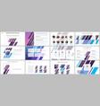 minimal presentations portfolio templates vector image vector image