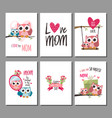 mothers day greeting cards set vector image vector image