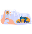 online call police criminal character steal car vector image vector image