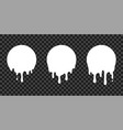 Paint drip stickers circle white melt drop icons